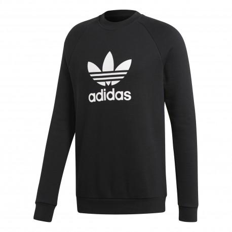 Adidas Originals Felpa Logo Giro Or  Nero
