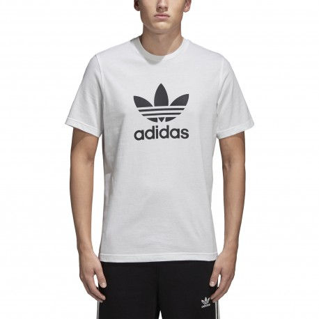 Adidas Originals T-Shirt Slim Logo Bianco