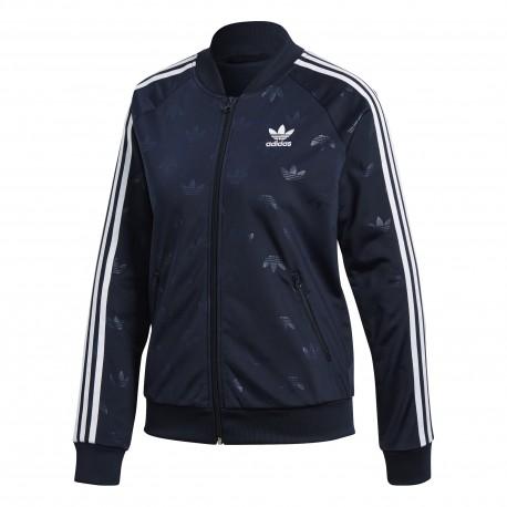 Adidas Originals Felpa Donna Zip Track Top Or Nero