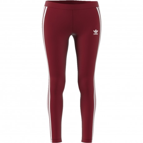 Adidas Originals Legging Donna 3 Str Or Bordeaux