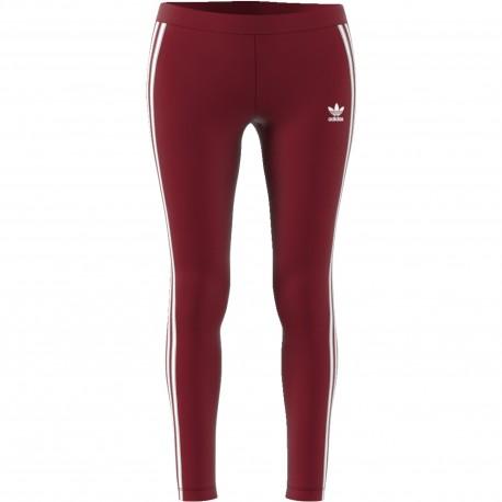 Adidas Originals Legging Donna 3 Str Or Bordeaux