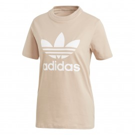 Adidas Originals T-Shirt Donna Mm Logo Or Rosa