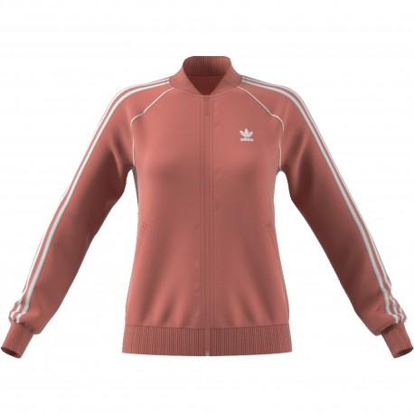 Adidas Originals Felpa Donna Zip Or Rosa