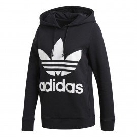 Adidas Originals Felpa Donna Cap Logo Or Nero