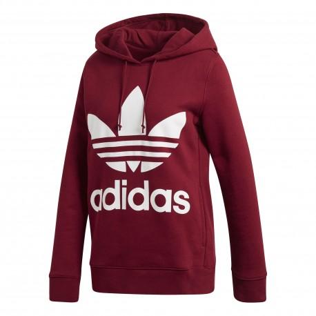 Adidas Originals Felpa Donna Cap Logo Or Bordeaux