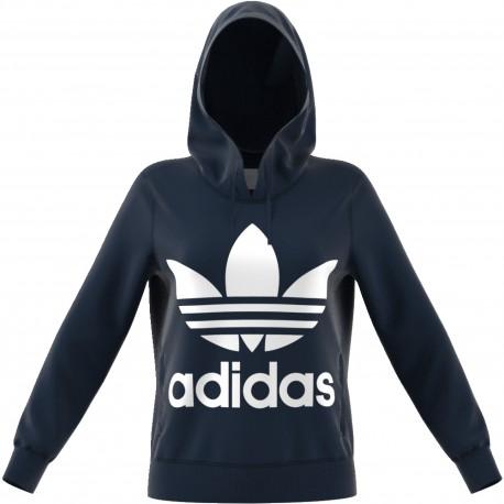 Adidas Originals Felpa Donna Cap Logo Or Blu