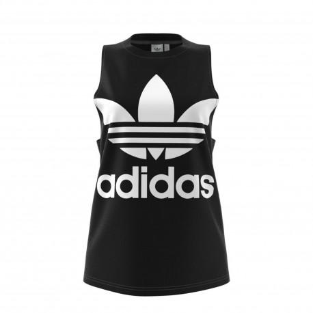 Adidas Originals Smanicato Donna Big Logo Or Nero