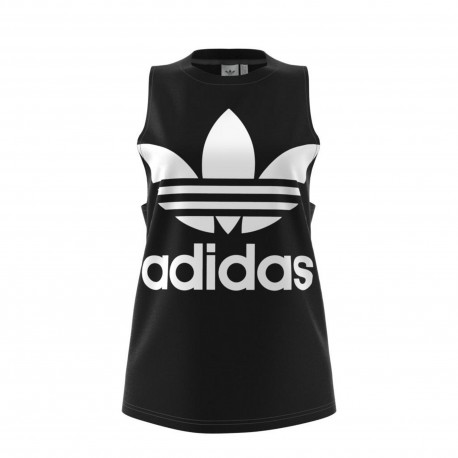 Adidas Originals Smanicato Donna Big Logo Or Nero