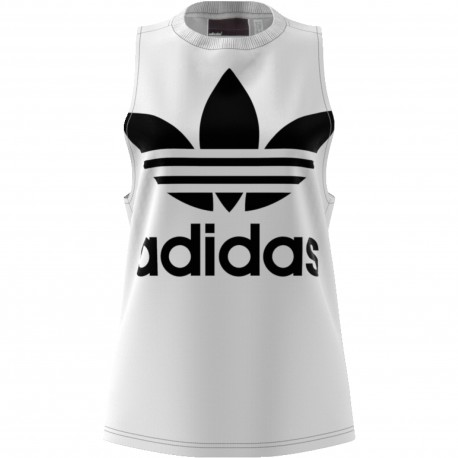 Adidas Originals Smanicato Donna Big Logo Or Bianco