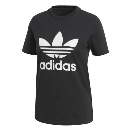 Adidas Originals T-Shirt Donna Logo Or Nero