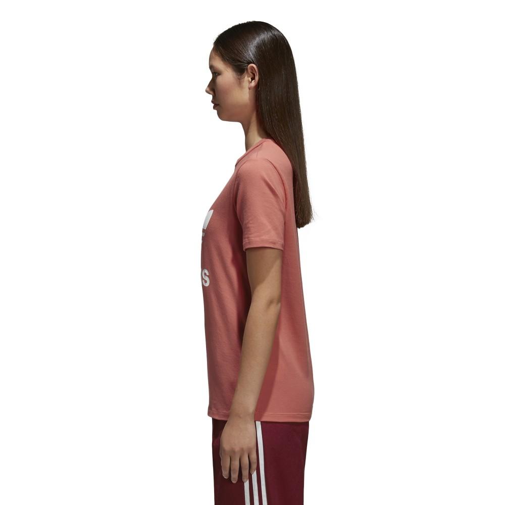 t-shirt donna adidas rossa