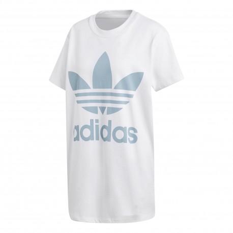 Adidas Originals T-Shirt Donna Big Logo Or Bianco