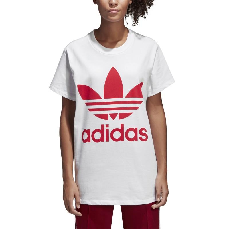 e876521bab8c6 ADIDAS originals t-shirt donna big logo or bianco cy2275 - Acquista ...