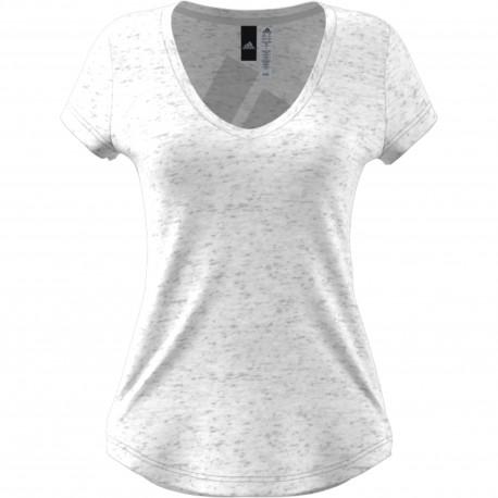Adidas Originals T-Shirt Donna Collo Ampio Ess Bianco