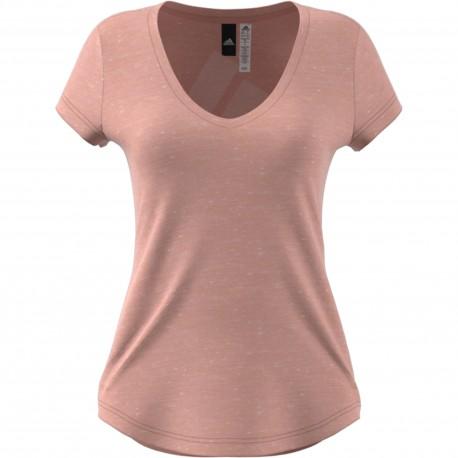 Adidas Originals T-Shirt Donna Collo Ampio Ess Rosa