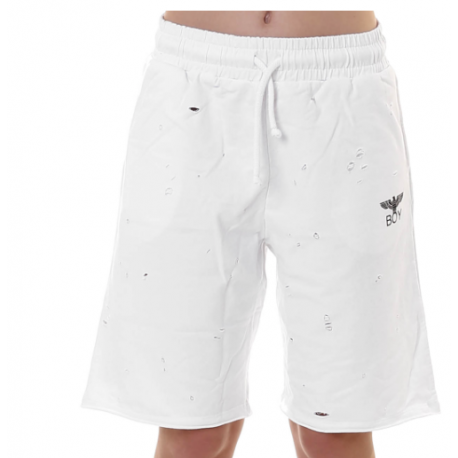 Boy London Short Donna Rotture Bianco