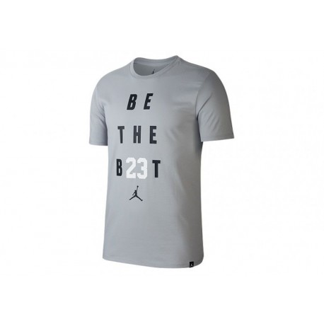 Nike T-Shirt Be The Best Jo  Wolf Grey