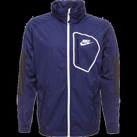 Nike Giacca Zip Cap Black/Binary Blue