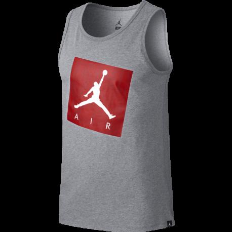 Nike Canotta Jump Air Jo  Carbon Htr/Uni Red