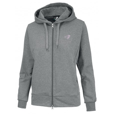 Get Fit Felpa Donna Full Zip C/Capp Grigio