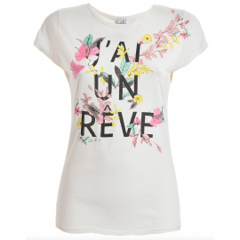 Deha T-Shirt W Fantasia  Bianco