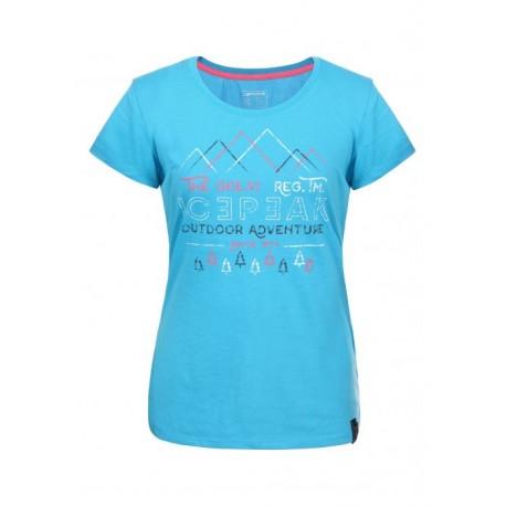 Icepeak T-Shirt Donna Stacy  Azzurro