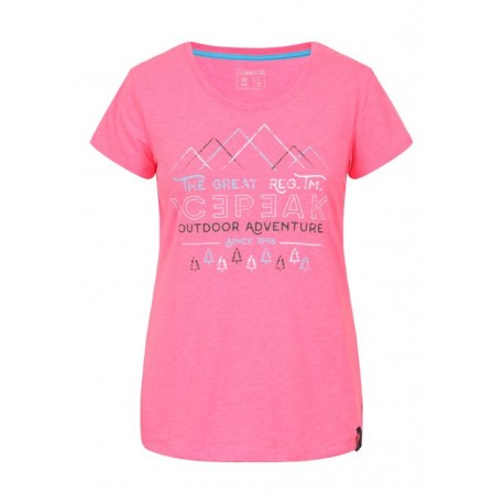 Icepeak T-Shirt Donna Stacy Rosa