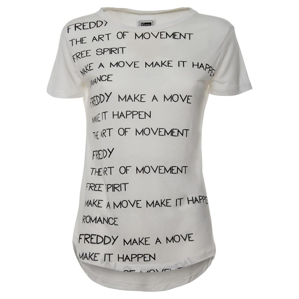 Freddy T Shirt Donna Scritta Bianco WT234L03N00,W0