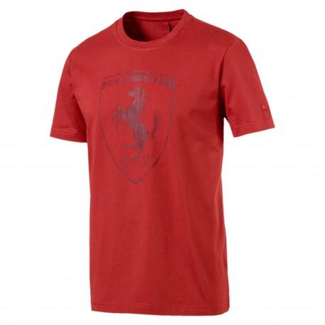 Puma T-Shirt Mm Ferrari Bianco