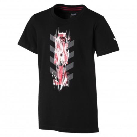 Puma T-shirt Bambino Mm Ferrari Nero