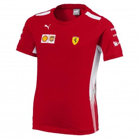 Puma T-Shirt Bambino Mm Team Ferrari Rosso