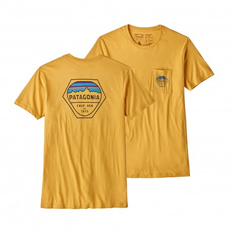 Patagonia T-Shirt Fitz Roy Hex  Yurt Yellow