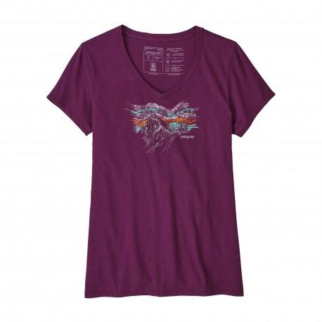 Patagonia T-Shirt Donna Raindrop Peak  Geode Purple