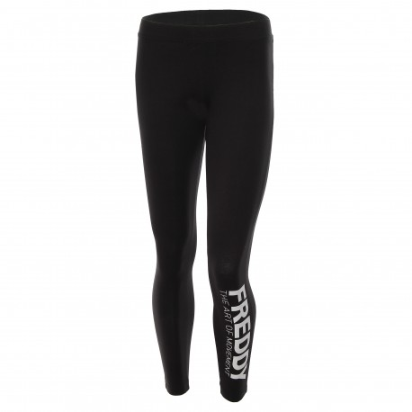 Freddy Tight W Viscosa Logo  Nero