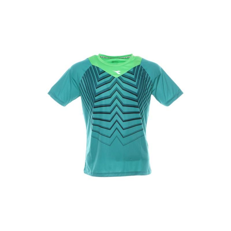 Diadora T-Shirt Mm Run Bright Peacock Green