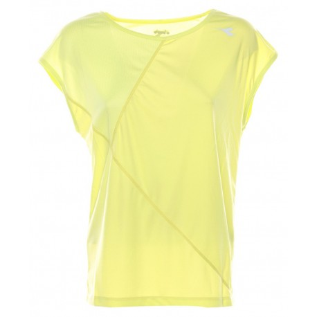 Diadora T-Shirt Donna Run Bright Green Sunny Lime