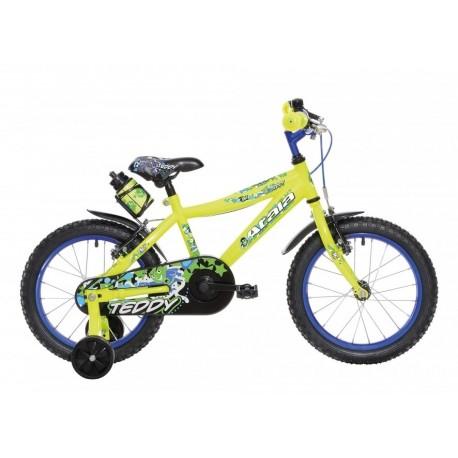 "Atala Bicicletta Teddy Boy 16"" Giallo Fluo/Blu"