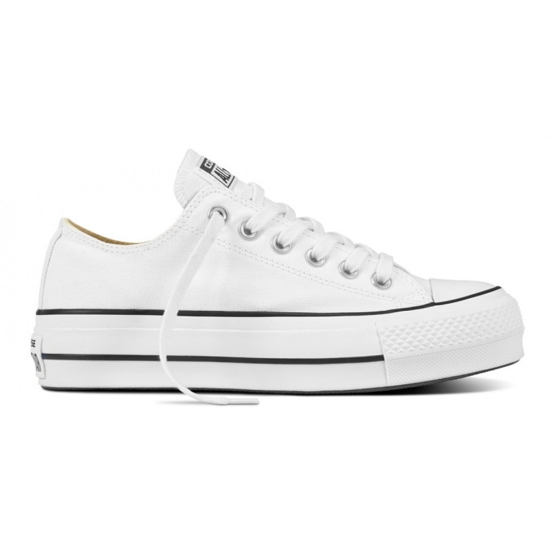 Converse Donna Canvas Platform  Core Ox Bianco