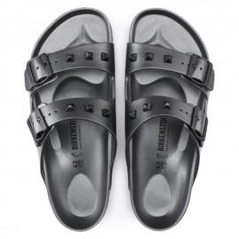 Birkenstock Sandalo Donna Arizona Borchie  Grigio