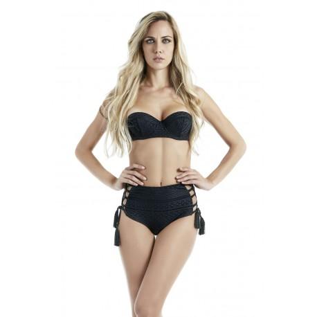 4giveness Bikini Donna Mutanda Alta Nero