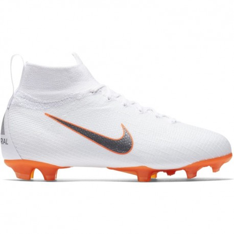 Nike Bambino Superfly 6 Elite Fg White/Grey