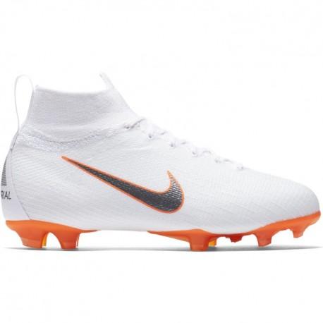 Nike Bambino Superfly 6 Elite Fg White/Grey