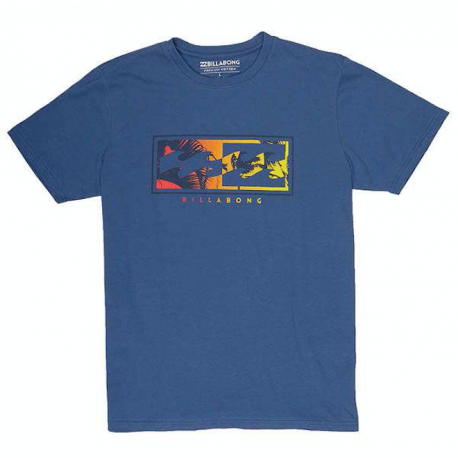 Billabong T-Shirt Logo Blu