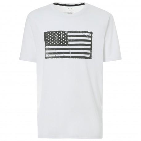 Oakley T-Shirt Bandiera  Bianco