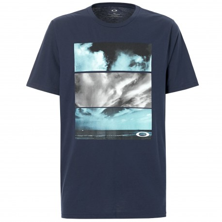 Oakley T-Shirt Stampa Nuvole  Blu