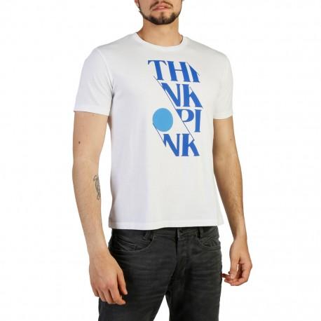 Think Pink T-Shirt Scritta  Bianco