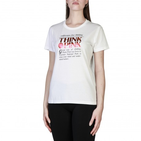 Think Pink T-Shirt Logo Donna Bianco