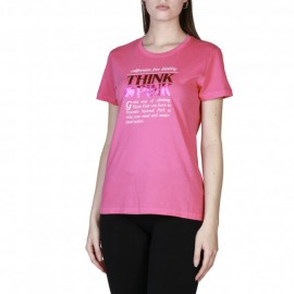 Think Pink T-Shirt Logo Donna Fucsia