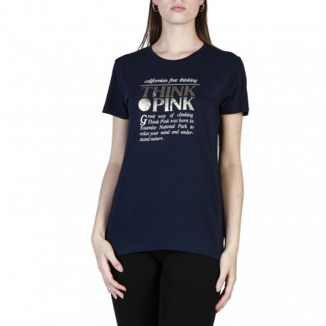 Think Pink T-Shirt Logo Donna Blu