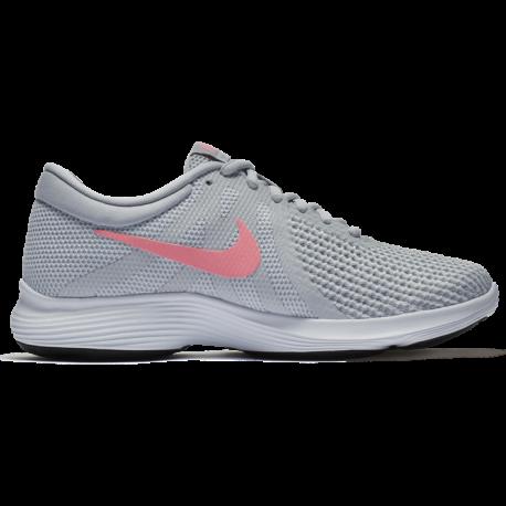 Nike Revolution 4 Eu  Silver/Nero Donna
